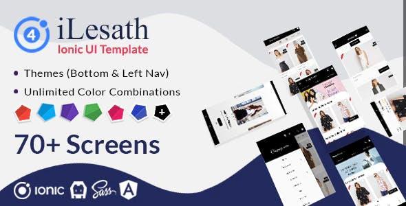 iLesath - Ionic 4 Ecommerce UI Template