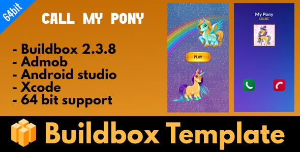 Call my pony - Buildbox 2.3.8 template