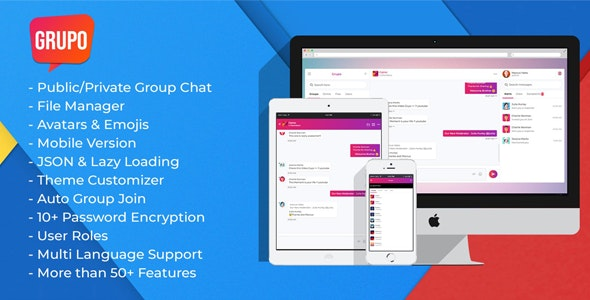 Grupo Pro - Chat room script - CodeCanyon Item for Sale