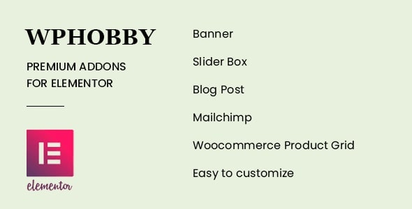 WPHobby Addons for Elementor - CodeCanyon Item for Sale
