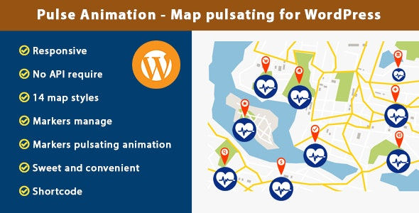 Pulse Animation - Map pulsating for WordPress - CodeCanyon Item for Sale