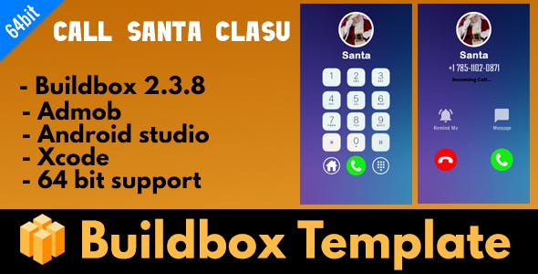 Call From Santa Claus - Buildbox 2.3.8 Template