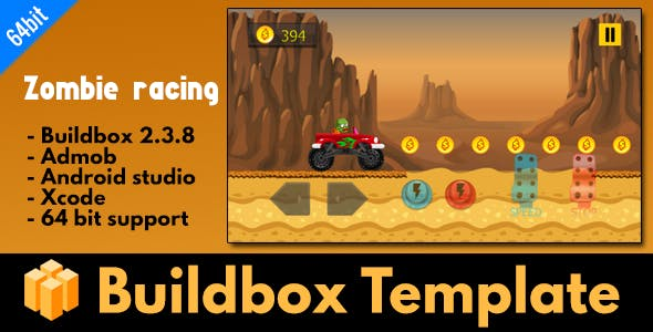 Zombie Racing - Buildbox 2.3.8 Template