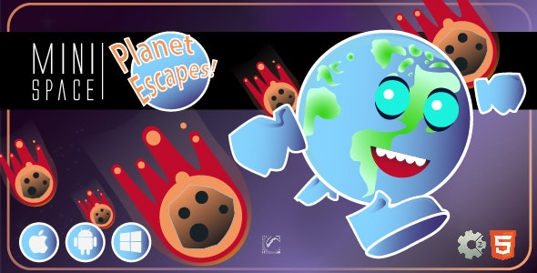 Planet Escapes! • HTML5 + C2 Game • Mini Space Series - CodeCanyon Item for Sale