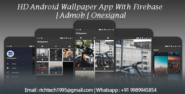 HD Android Wallpaper App With Firebase | Admob | Onesignal
