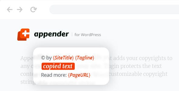 Appender – Copycat Content Protection for WordPress