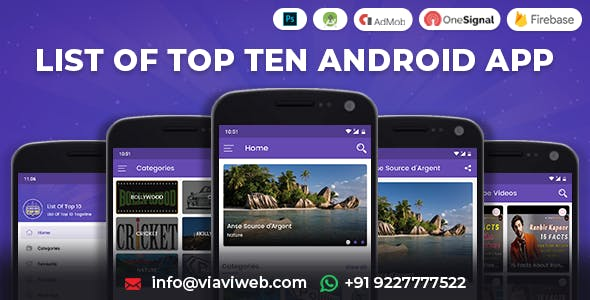 List of Top Ten Android App (Top 10 List)