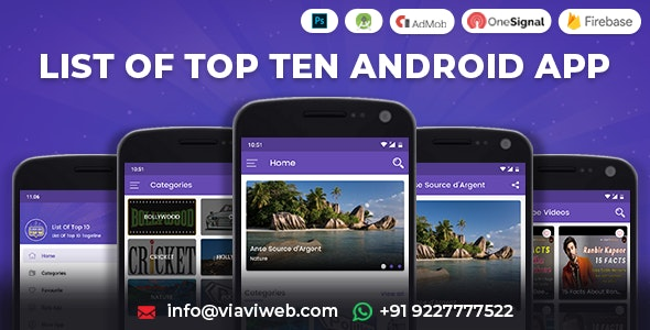 List of Top Ten Android App (Top 10 List) - CodeCanyon Item for Sale