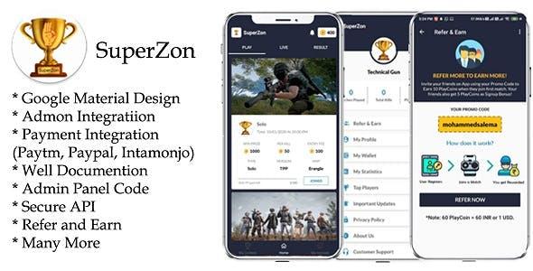 SuperZon - PUBG Tournament App with Admin Panel