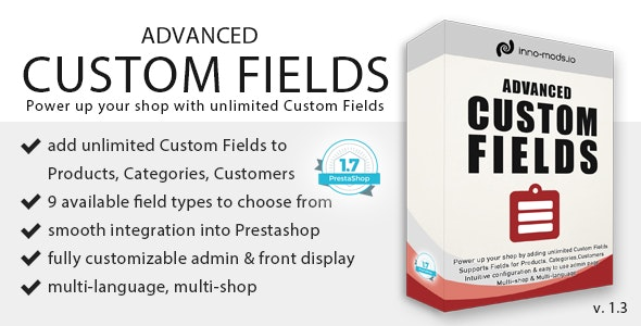 Advanced Custom Fields for Prestashop - CodeCanyon Item for Sale