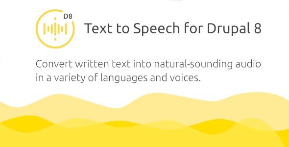 Golos — Text to Speech Plugin for Drupal 8