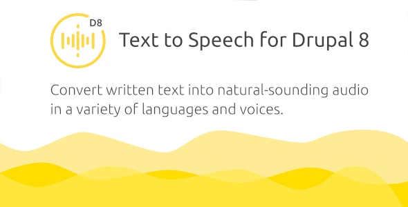 Golos — Text to Speech Plugin for Drupal 8 - CodeCanyon Item for Sale