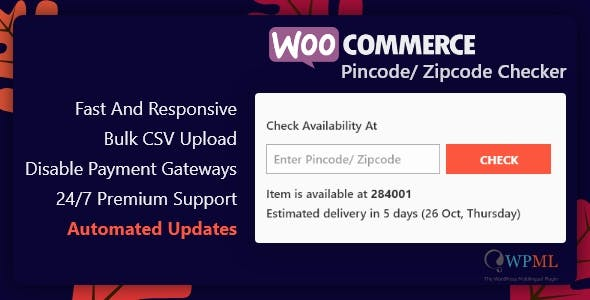 WooCommerce Pincode/ Zipcode Checker