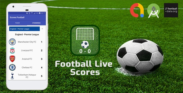 Football Live Scores Android App with ADS by RIFCODE | CodeCanyon