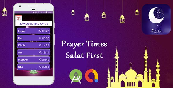 Prayer Times Android App with Admob
