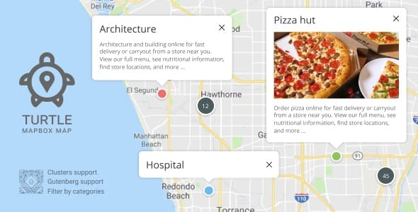 Turtle Mapbox Map - Create Places Map For WordPress