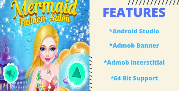 Mermaid Princess Fashion Salon - Android, Admob
