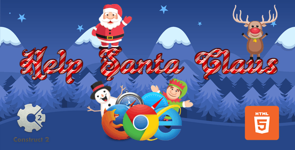 Help Santa Claus for kids - Christmas Game - HTML5 (.Capx)