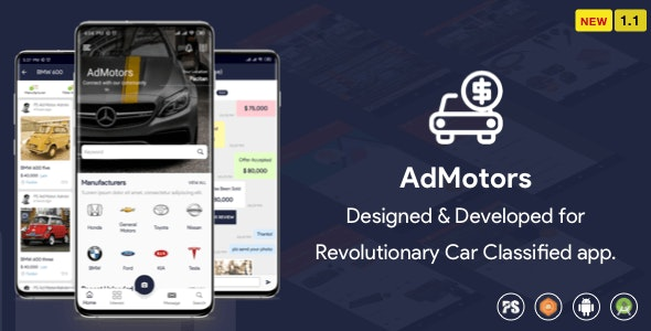 AdMotors For Car Classified BuySell Android App (1.1) - CodeCanyon Item for Sale