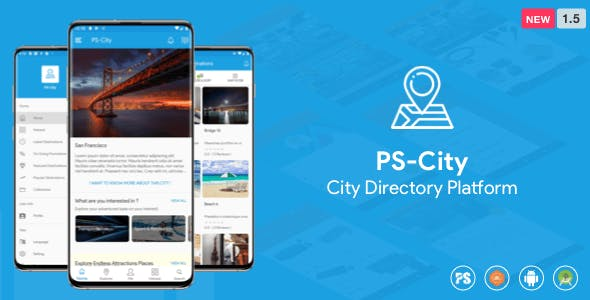 PS City Guide ( Directory City Tour Guide App For A City ) 1.5