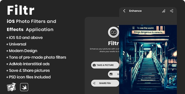 Filtr | iOS Photo Filters and Effects Application - CodeCanyon Item for Sale