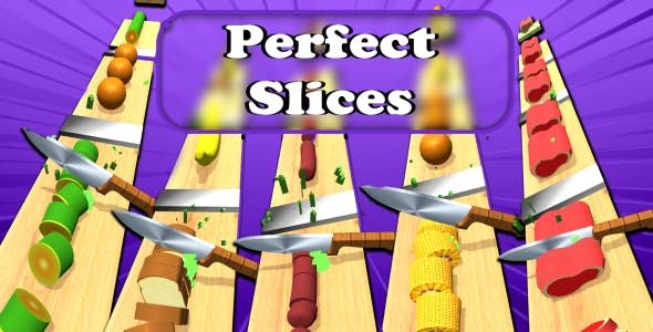 Perfect Slices Fruits Unity Source Code Android & IOS Game Template