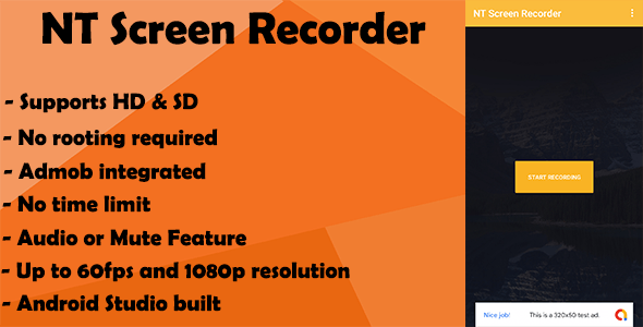 Screen Recorder - With Admob, No Root Required