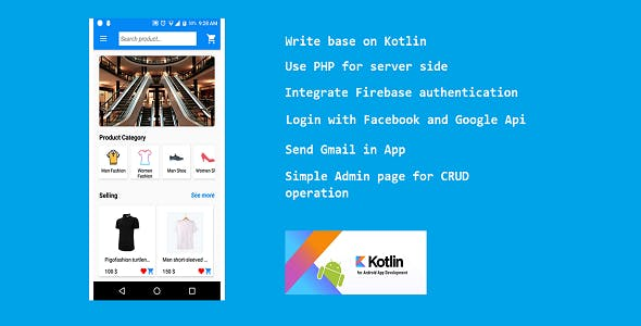 Facility Shopping - Android eCommerce App (Kotlin)