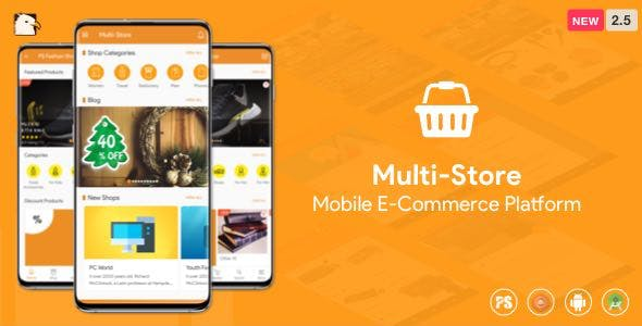 Multi-Store ( Mobile eCommerce Android App, Mobile Store App ) 2.5
