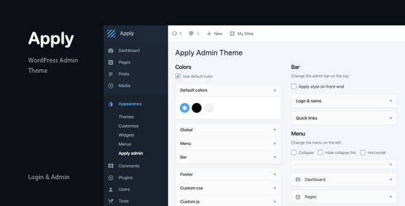 Apply - WordPress Admin Theme