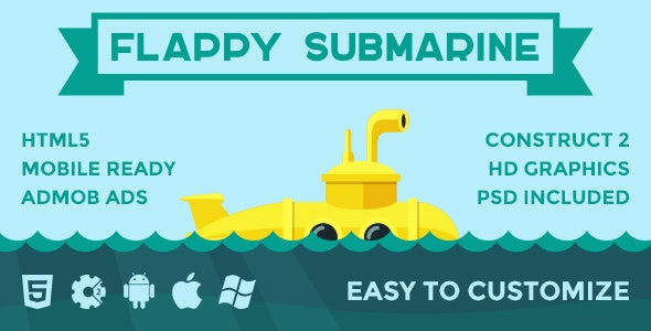 Flappy Submarine - CodeCanyon Item for Sale