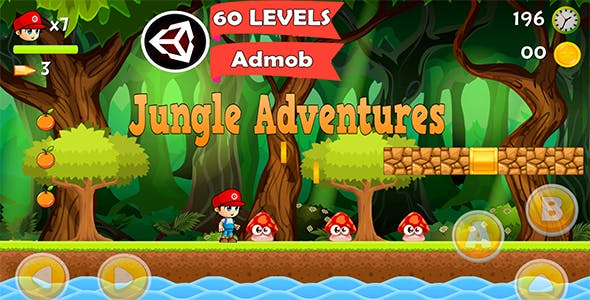 Super Jungle Adventures-Platformer Controller Game Kit