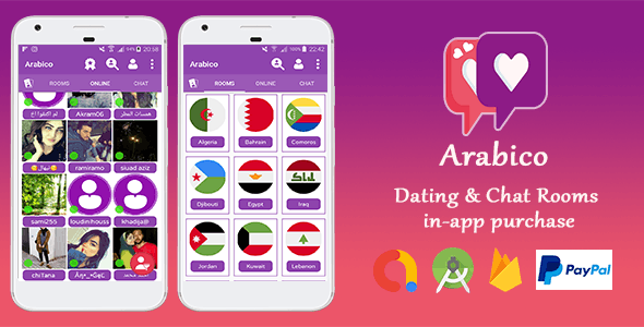 Arabico - Dating - Chat Groups - Matchs - One to One Chat - CodeCanyon Item for Sale