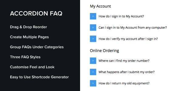 Accordion FAQ WordPress Plugin by UnboundStudio