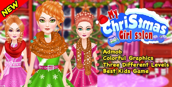Best Christmas Girl Salon Ready For Publish Android By Iqueen Codecanyon