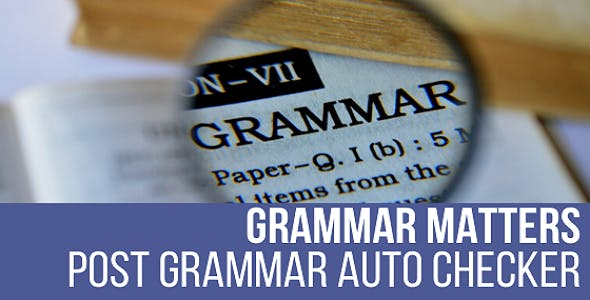 Grammar Matters - Automatic Grammar Checker Plugin for WordPress