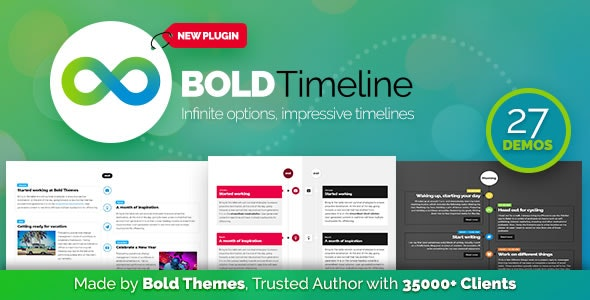 Bold Timeline - WordPress Timeline Plugin - CodeCanyon Item for Sale