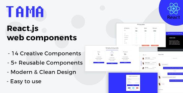 Tama - React.js Web Components