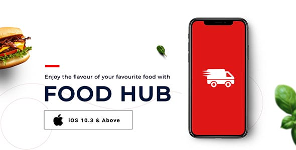 FoodHub | Food Ordering App | iOS Template