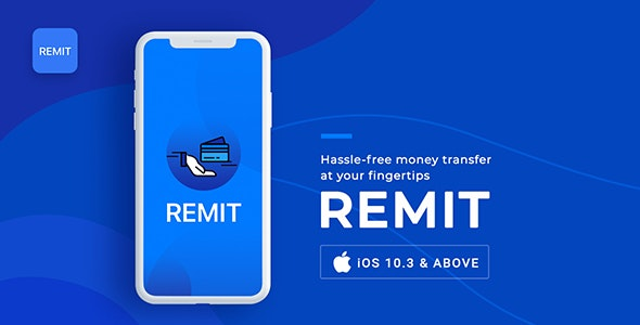 Remit | Money Transfer App | iOS Template - CodeCanyon Item for Sale