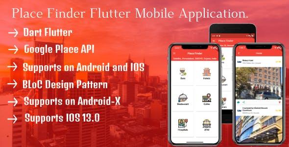 """""""Place Finder"""" Flutter Google Map Place Finder Complete Solution"""