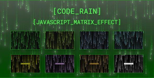 Code Rain - JavaScript Matrix Effect