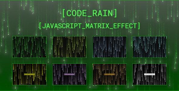 Code Rain - JavaScript Matrix Effect - CodeCanyon Item for Sale