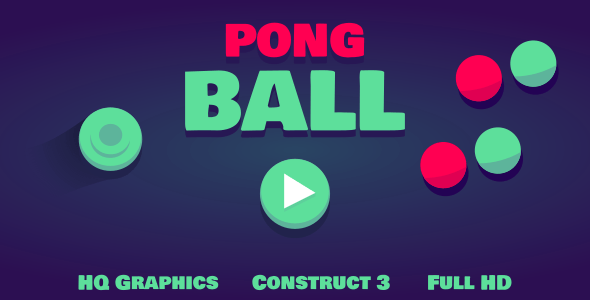 Pong Ball - HTML5 Game (Construct3)