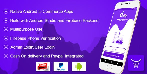 DailyCommerce Android Ecommerce Apps with Firebase Backend