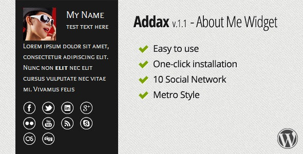 Addax - About Me Widget - CodeCanyon Item for Sale