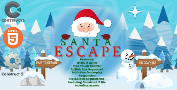 Santa Escape - HTML5 Game - HTML5 Website