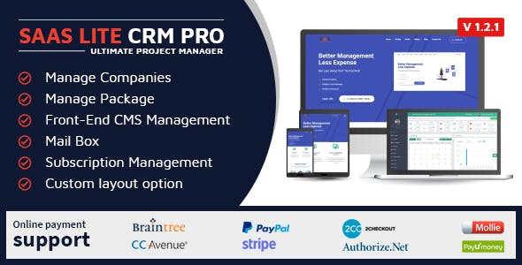 SaaS Lite - Project Manager CRM PRO