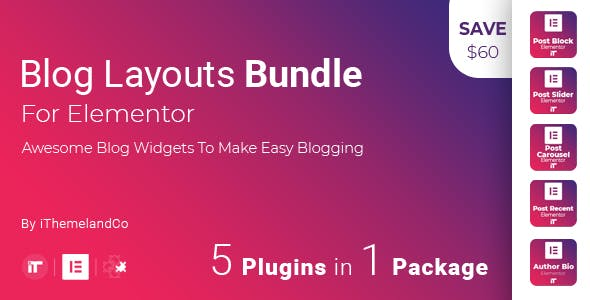 Blog Layouts Bundle For Elementor