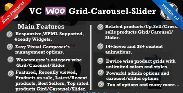 WP Bakery WooCommerce Grid/Carousel/Slider
